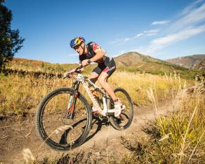 Braden Currie trains hard on the mountain bike in Wanaka last year in the daily grind of being an...