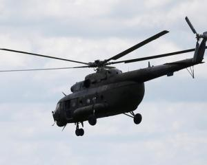A Russian-made MI-17 helicopter of the Colombian army is seen flying in Meta. Photo: Reuters