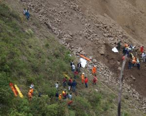 Search and rescue operations underway at site of a landslide in Narino, Colombia. Photo: Reuters