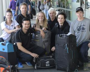 New Zealand curling representatives Jessica Smith, Ben Smith, Simon Neilson, Mhairi-Bronte Duncan...