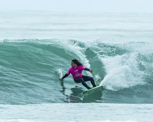 Dunedin surfer Elliott Brown in action at this week's national championships in Gisborne. Brown...