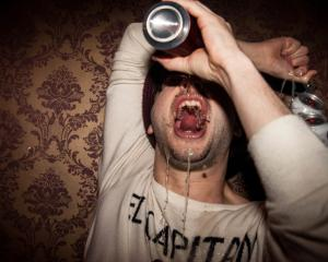 People were filmed drinking until they vomited. Stock photo: Getty