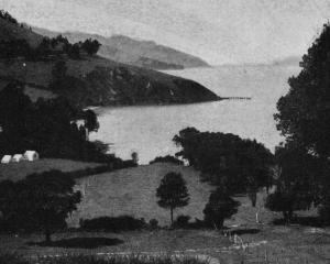Governor's Bay, Lyttelton Harbour, Canterbury, a favourite holiday resort and popular pedestrian...