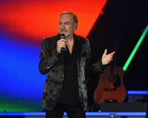 Neil Diamond performs at Forsyth Barr Stadium in October 2015. Photo: Gregor Richardson