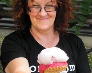 Ice-cream maker and owner of Nom Nom, in Clyde, Debbie Paton. Photo: Pam Jones