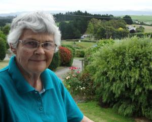 Kakanui's Verna Chambers, pictured at her home which features views of the Kakanui mountains....