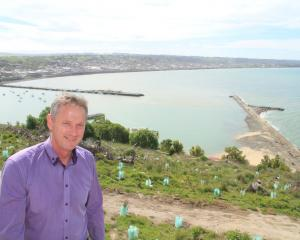 Waitaki Mayor Gary Kircher inspects a site in October that could be used as a starting point for...