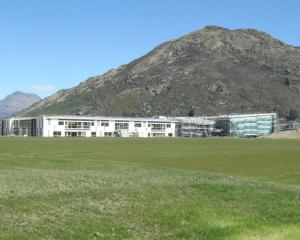 The new Wakatipu High School at Frankton takes shape last October. PHOTO: PAUL TAYLOR