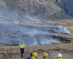 Volunteer fire crews from across the Wakatipu and beyond were called in to help fight a grass...