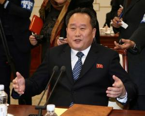 Head of the North Korean delegation, Ri Son Gwon. Photo: Reuters
