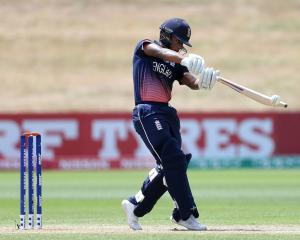 England's Savin Perera bats against Namibia. Photo: Getty Images