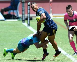 Tevita Li in action for the Highlanders at last year's Brisbane Tens. Photo: Getty Images