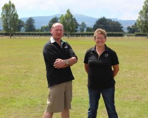 Otago Taieri A&P show president Wayne Smaill, with show secretary Cate Edgler, at the...