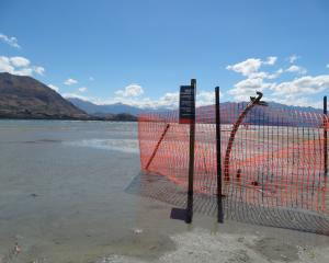 One of the holes at Bremner Bay is still fenced off. Photo: Sean Nugent