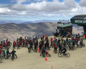 Nearly 100 mountain bikers  competed in the fourth annual Cardrona Mega Avalanche race on Sunday....