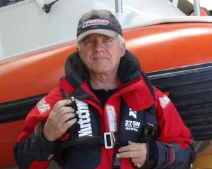 Wanaka Coastguard president Jonathan Walmisley wears a  Hutchwilco lifejacket, which can be...