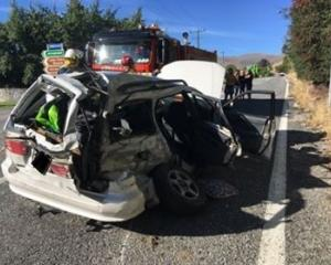 Four people have been taken to hospital following a crash near Arrowtown this evening. Photo:...
