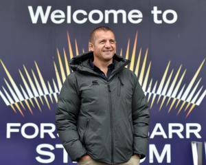 Otago coach Ben Herring at Forsyth Barr Stadium this week. Photo: Peter McIntosh