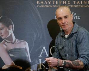 Actor Daniel Day-Lewis arrives for a news conference before the first screening of the movie ...