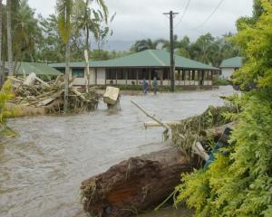 Apia in the wake of Gita Photo: Rudy Bartley/RNZ