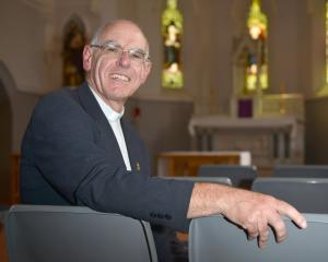 Bishop-elect of the Dunedin Catholic diocese Fr Michael Dooley in the St Joseph's Cathedral...