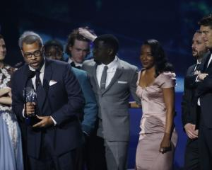 The cast and crew of Academy Award nominated film 'Get Out'. Photo: Reuters