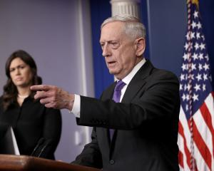 US Defence Secretary Jim Mattis told reporters he is still unsure who directed the recent...