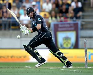 Martin Guptill, seen in action against England recently, has become the leading run-scorer in...