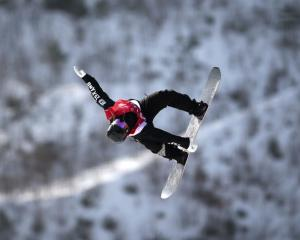 Mount Aspiring College pupil Zoi Sadowski­-Synnott competes in the women's snowboard big air...
