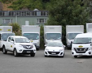 Just some of the fleet at Hanson Rental Vehicles.