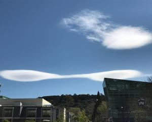 This is probably a twin-hulled alien spaceship. But there is a small chance it is in fact a...