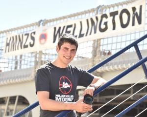 Million Dollar Mouse project monitoring team leader Finlay Cox boards  HMNZS Wellington in...