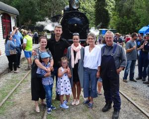 Pictured in front of one of the Kingston Flyer engines are the late Russell Glendinning's '...