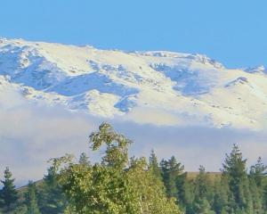 Looking out at the snowy ranges yesterday morning, Mark Pettinger says ''some of us in Cromwell...
