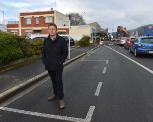 Mosgiel-Taieri Community Board member Dean McAlwee stands, in June last year, in a car park that...