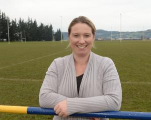 Party in the Park organiser Kelly Ennis of Mosgiel at Peter Johnstone Park. Photo: Linda Robertson