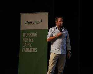 Agribusiness Consultants Ltd farm management consultant Deane Carson talks to farmers in Tapanui...