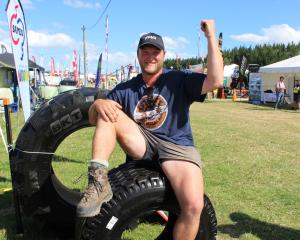 Balfour man Joseph Moir celebrates winning the Southern Man Competition. Photo: Nicole Sharp