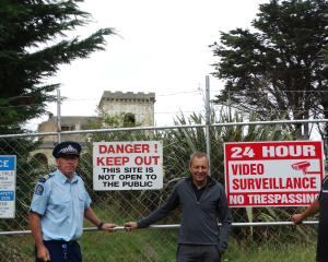 The warning signs spell out the clear message trespassers will not be tolerated at Cargill's...