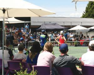 IMG 7235: Courtside at the Distinction Hotels Te Anau Tennis Invitational at the Te Anau Tennis...