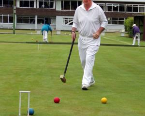 Tasmanian Tim Meredith on the croquet green this week at the New Zealand Masters Games. PHOTO:...