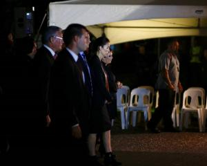 Prime Minister Jacinda Ardern arrives for the dawn service at Waitangi. Photo: NZ Herald