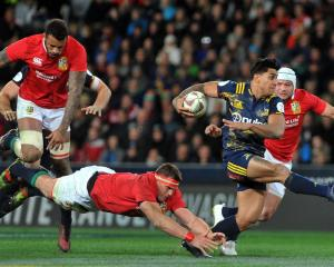 The Lions took on the Highlanders as part of their New Zealand tour last year. Photo ODT