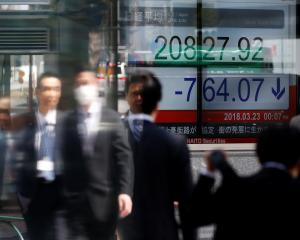 Global markets appeared to panic as fears of an international trade war rise. Photo: Reuters