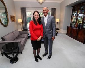 Former US president Barack Obama and Jacinda Ardern. Photo: supplied via NZ Herald