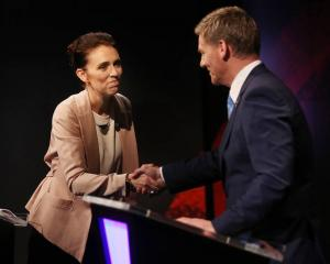 Jacinda Ardern and Bill English faced off in the first leaders debate this week. Photo:Getty Images