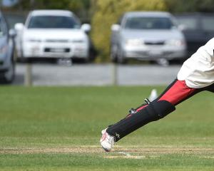 Albion batsman Jack Coman is bowled during the senior game against Kaikorai at Bishopscourt on...