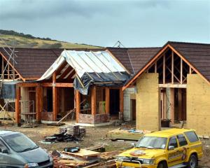 Dunedin's residential construction is already meeting demand. Photo by Stephen Jaquiery.