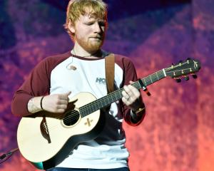 Ed Sheeran performing in Dunedin. Photo: ODT