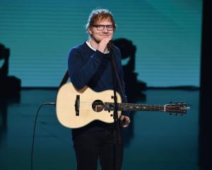 Singer Ed Sheeran is giving two performances in Dunedin next year. Photo: Getty